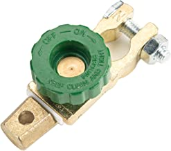 Battery Link Terminal Quick Disconnect Switch, 300A Cutoff Kill Switch for Top Post Battery Car Truck Boat Rv Auto Vehicle Parts (Plated Brass)