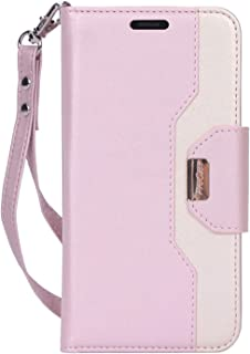"ProCase iPhone 11 Wallet Case for Women, Flip Folio Kickstand PU Leather Case with Card Holder Wristlet Hand Strap, Stand Protective Cover for iPhone 11 6.1"" 2019 Release -Pink"