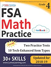 Florida Standards Assessments Prep: 4th Grade Math Practice Workbook and Full-length Online Assessments: FSA Study Guide