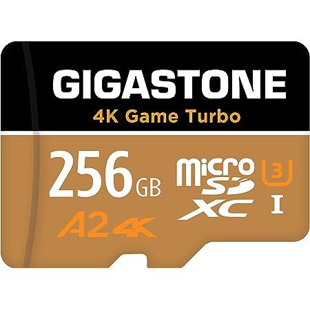 【5年データ回復保証】【Nintendo Switch対応】 Gigastone マイクロSDカード 256GB Micro SD Card, 4K Game Turbo, Switch SDカード 256 A2規格 100/50 MB/s, Full HD & 4K UHD撮影 UHS-I MicroSDXC A2 U3 V30 Class 10 MicroSDカード アダプタ付 メーカー10年保証付 国内正規品
