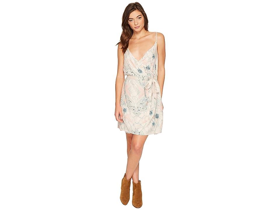 Roxy Drifting Current Wrap Dress (Pale Dogwood Floral Eclipse) Women