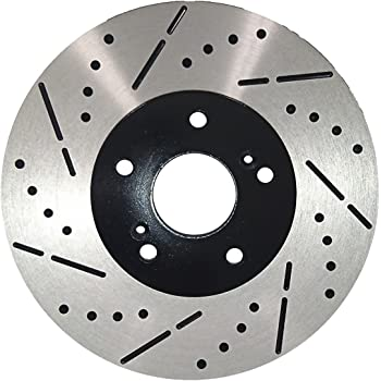 FRONT Drilled Slotted Brake Rotors /& Ceramic Pads For Honda Accord Coupe Sedan