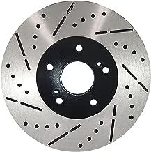 Rear ECoat Drill&Slot Brake Rotors Pads Fit 08-13 Infiniti G37 w/Akebono Caliper