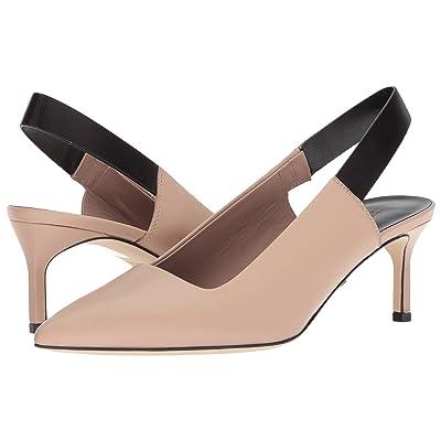 Via Spiga Blake (Sand/Black Strap Leather) High Heels