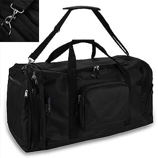 monzana Sporttasche Reisetasche Tasche | 70 cm | 95 Liter Volumen | Schultergurt abnehmbar und verstellbar | schwarz - Rei...
