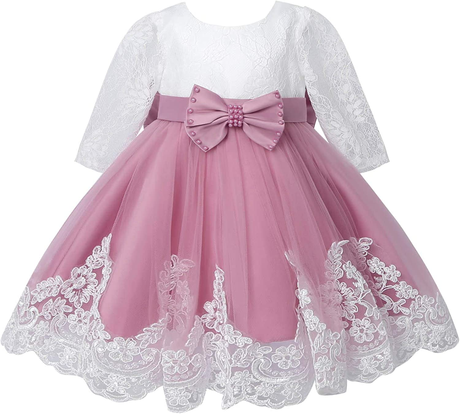 YiZYiF Princess Flower 2021 model Dress Lace Don't miss the campaign Birthday Wedding Long Sleeve P