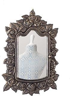 Boîte à clés Murale avec Miroir vitrée Armoire à de Style Antique