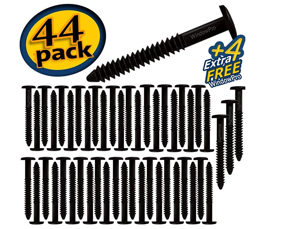 Window Shutters Panel Peg Loks Spikes 3 inch 48 pack (Black)