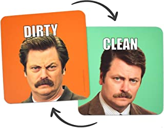 Joybomb Gift Co. Clean Dirty Dishwasher Magnet - Ron Swanson - Waterproof UV Coating - Made in The USA