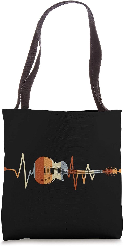 Heartbeat Guitar Tote Bag