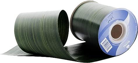 Green Aspidistra Ti Leaf Pattern Poly Satin Waterproof Ribbon 4
