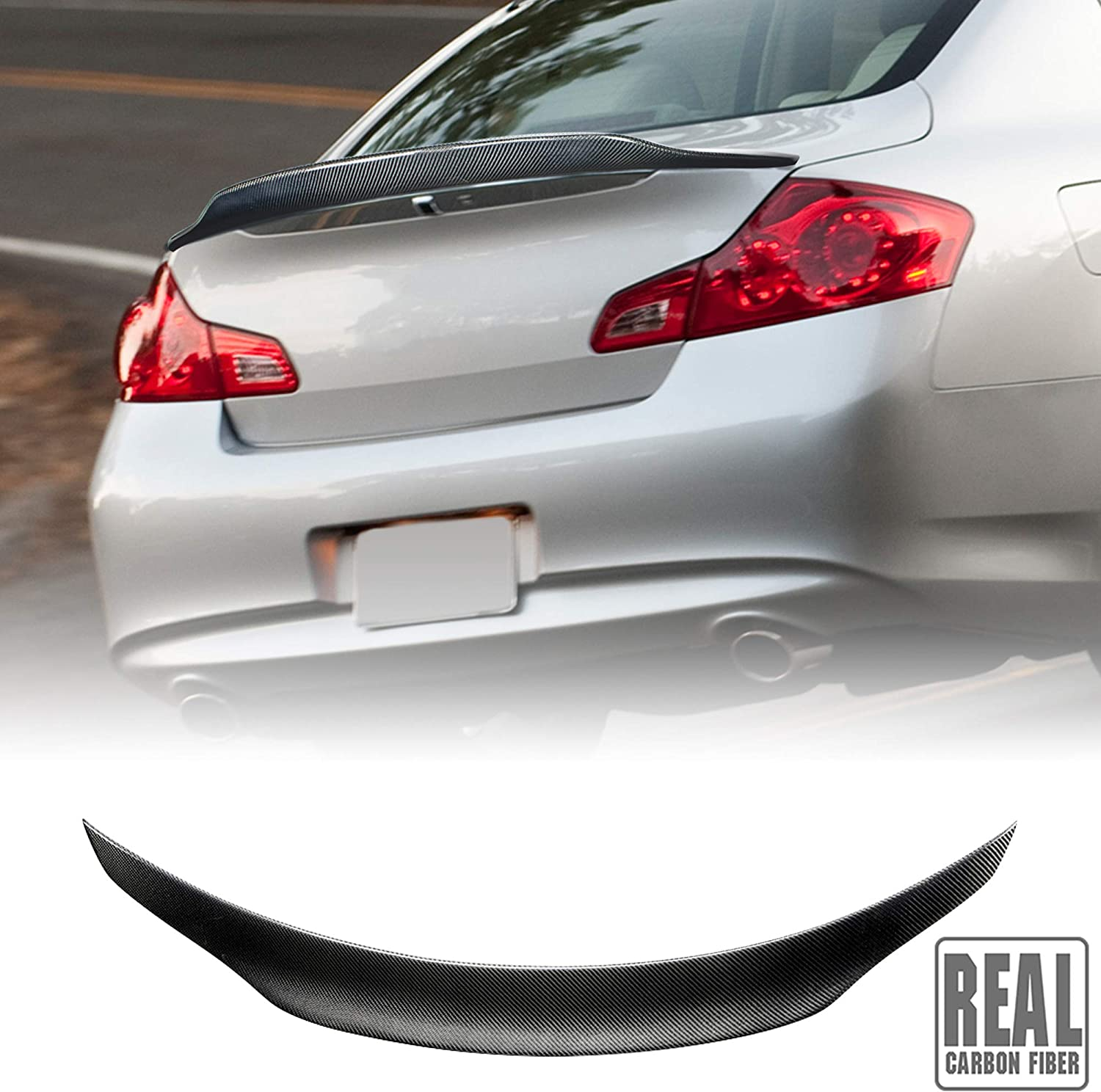 Special sale free shipping item AeroBon Real Carbon Fiber Trunk Spoiler with Compatible 2006-201