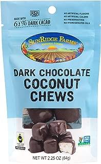 SunRidge Farms EnergyGO Fair Trade Dark Chocolate Coconut Chews 2.25 Ounce Bag (Pack of 8)