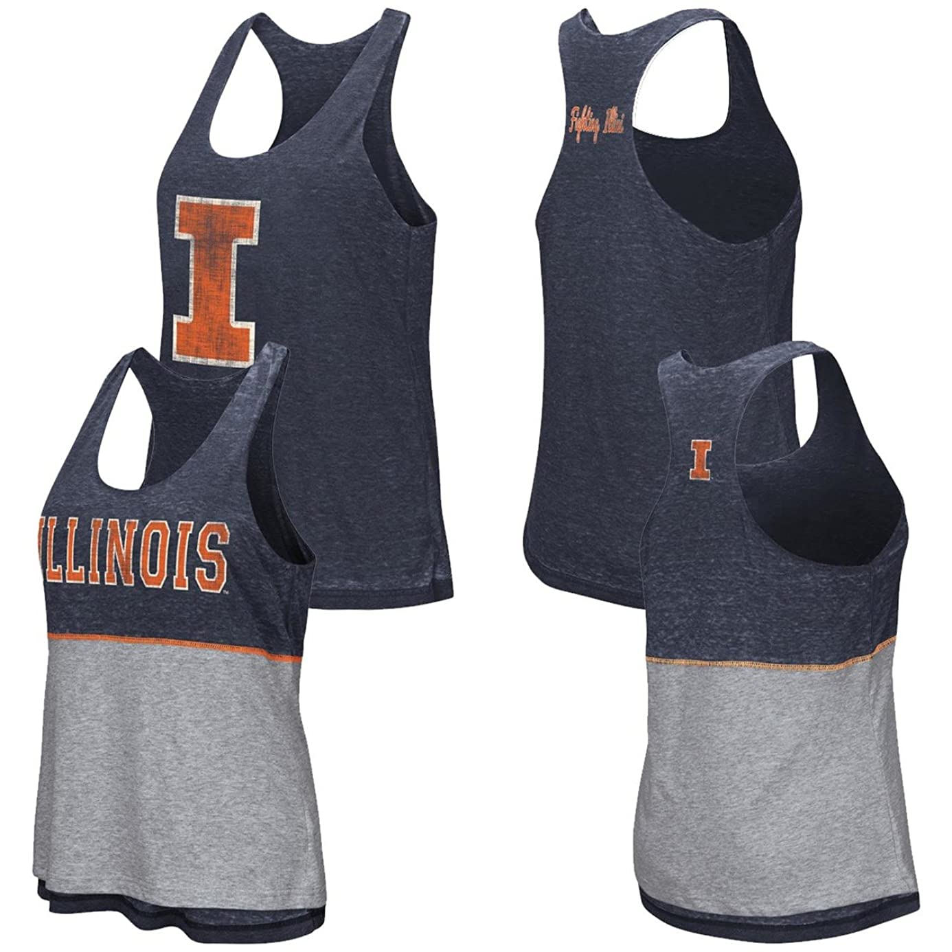 Colosseum University of Illinois Tank Top Reversible Red Ross Racerback Tank