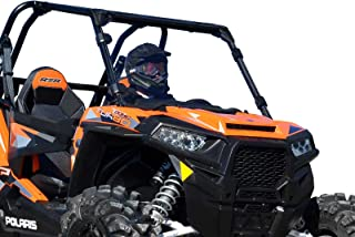 SuperATV Heavy Duty Clear Scratch Resistant Full Windshield for Polaris RZR XP 1000/4 1000 (2014-2018) - Installs in 5 Minutes!
