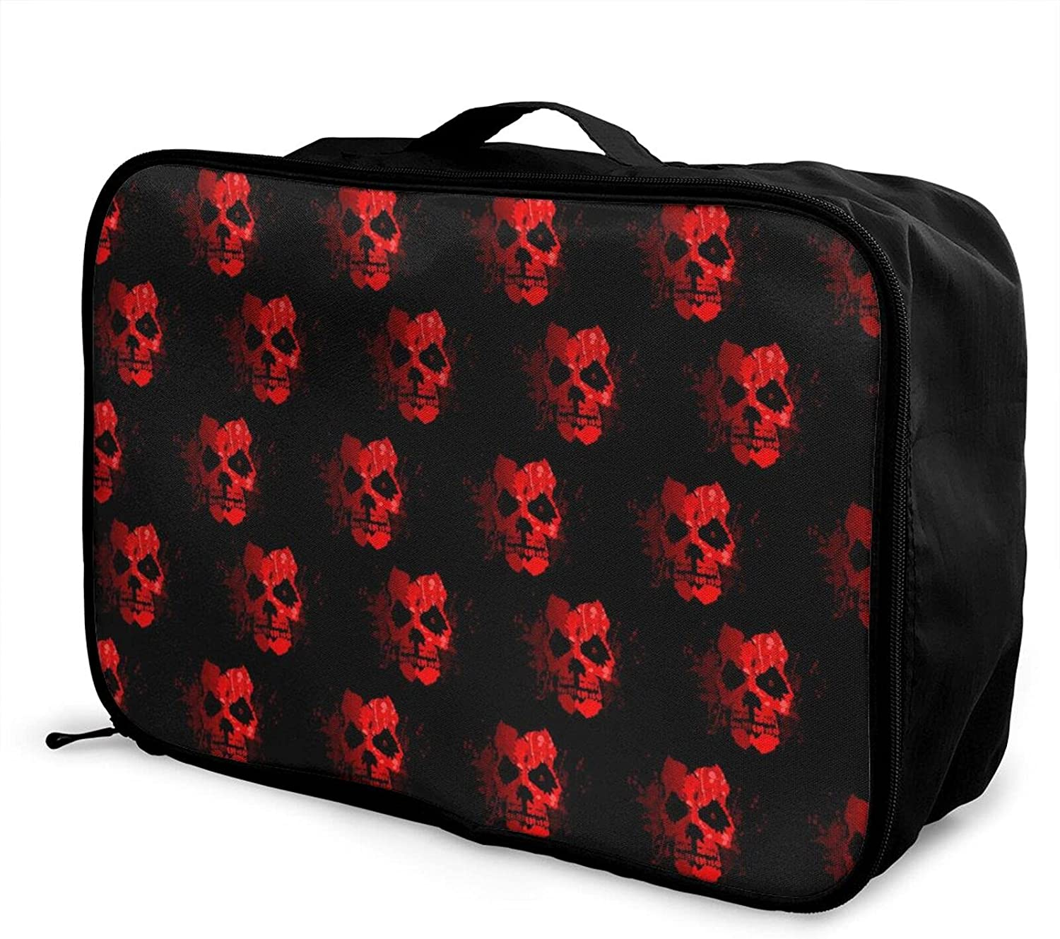 Foldable Travel New arrival Free Shipping New Bag Tote Red Carry-On Halloween Fire Skull