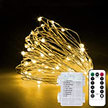 2 Pack 33Ft 10M Fairy Lights Indoor String Light Twinkle Lights with Remote for Bedroom Wedding Garden Patio Party Decorat...