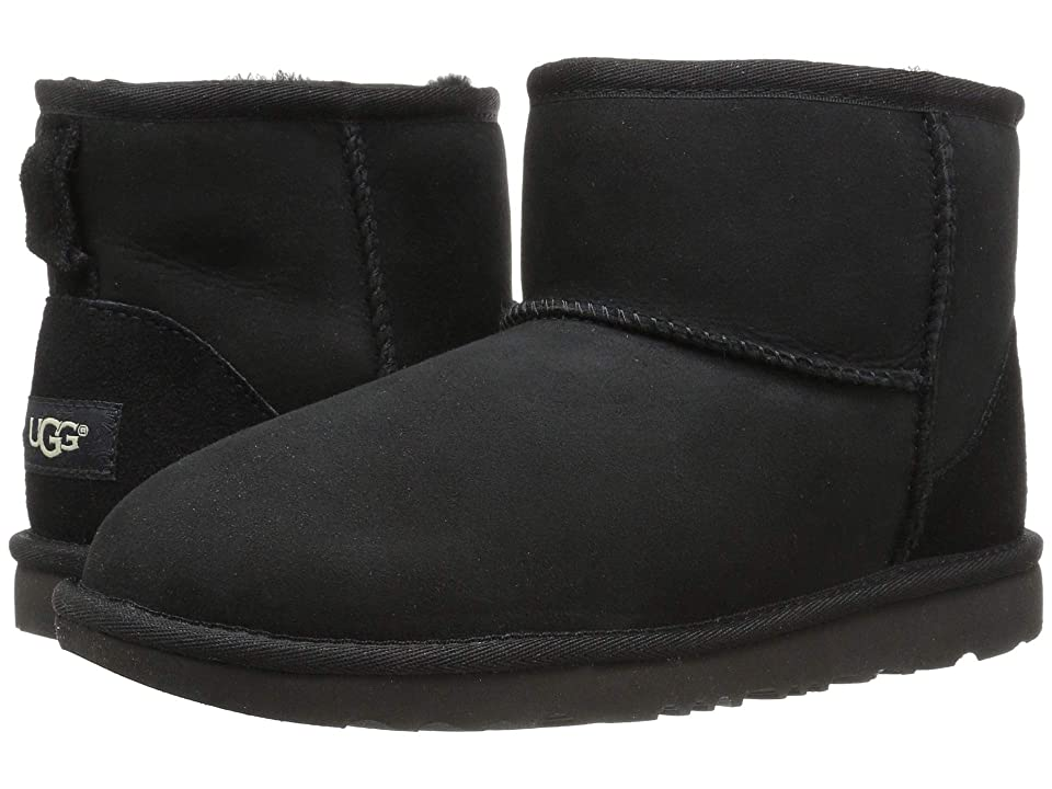 UGG Kids Classic Mini II (Little Kid/Big Kid) (Black) Kids Shoes