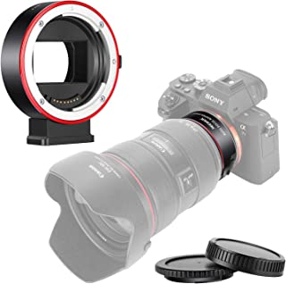 Neewer Adaptador Electrónico Lente AF Control Apertura Enfoque Automático Compatible con Canon EF/EF-S Lente a Sony Cámara Montura E para Sony A9/A7R3/A7R2/A7M3/A7M2/A7R/A7S2/A7S/A7/NEX7