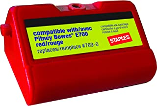 Staples E700 Postage Meter Ink Cartridge for Pitney Bowes E700 and G700 Series Meters
