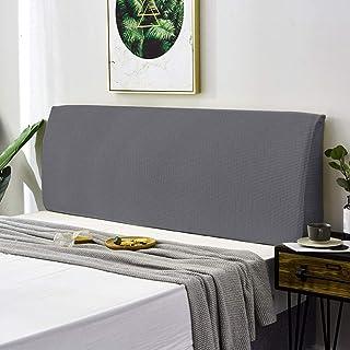TOPOWN Funda para cabecero de cama, elástica, 180 – 200 cm, resistente al polvo, gruesa, color gris