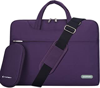 YOUPECK Water Repellent 10 11 11.6 Inch Tablet Laptop Shoulder Bag for MacBook Air 11 12, Surface Pro, iPad Pro Polyester Protective Messenger Briefcase Men Women Carrying Handbag Sleeve Case, Purple