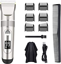 Hair Clippers for Men,AWECOT Professional Hair Trimmer Quiet Cordless Hair Cutting Kit Beard Trimmer,USB Rechargeable Mens...