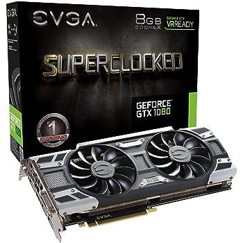 EVGA GeForce GTX 1080 SC GAMING ACX 3.0, 8GB GDDR5X, LED, DX12 OSD Support (PXOC) Graphics Card 08G-P4-6183-KR (Renewed)