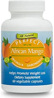 Perfect African Mango Irvingia Gabonensis with 150mg of 100% Pure and Clinically-Proven IGOB131-60 Capsules