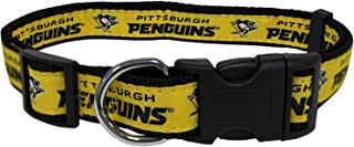 Pets First NHL Pittsburgh Penguins Collar for Dogs & Cats, Medium. - Adjustable, Cute & Stylish! The Ultimate Hockey Fan Collar!