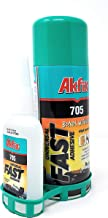 Akfix 705 Fast Adhesive CA Glue (3.50 oz.) with Activator (13.50 fl oz.) [Clear Super Glue Adhesive and Accelerator Spray]