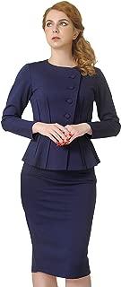 Women's Formal Office Business Shirt Jacket Skirt Suit