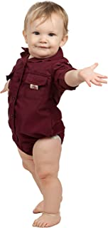 Baby Boys PFG Vented Fishing Shirt Button Up One Piece (8 Color Options)