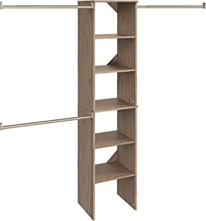 ClosetMaid 58881 SuiteSymphony 16-Inch Starter Tower Kit, Natural Gray