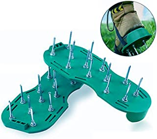 Amicc Lawn Aerator Sandals Shoes Grass Spiked Green Gardening Walking Revitalizing New (Green)
