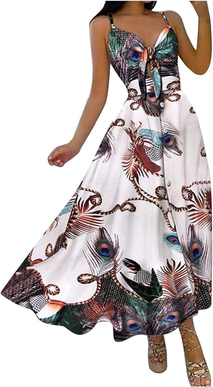 MIVAMIYA Long Popular Summer Dresses for Women Front Knot Tie SALENEW very popular Sexy Boho