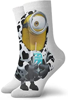 sky feng, Anime calcetines Minions 4 (2) calcetines deportivos suaves de secado rápido transpirable unisex de la tripulación de 30 cm
