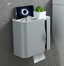 Waterdichte, volledig bedekte toiletrolhouder, badkamerpapierrol, zelfklevende hangende tissuedoos, toiletpapierdispenser-...