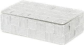 Compactor, Boîte avec Couvercle, Sangle Tressée, Blanc, Dimensions: 21 x 12 x H.5,5 cm, RAN8559