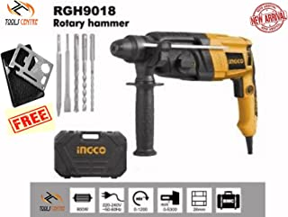 Tools Centre RGH9018 Orange Black 3 Mode 26mm Rotary hammer with Quick Chuck & 7pcs Accessories & 11 in 1 Multitool Survival Camping