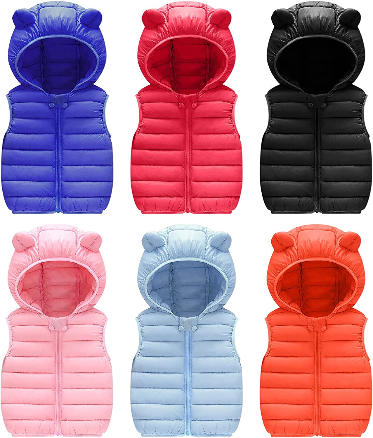 Toddler Baby Warm Vest Outerwear Clothes Unisex Kids Solid Ear Hooded Vest Outerwear Autumn Winter Baby Waistcoat: Clothing, Shoes & Jewelry