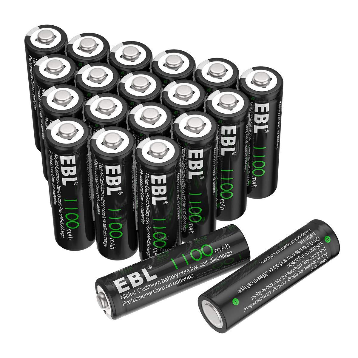 EBL AA Rechargeable Batteries 20