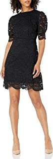 Marca Amazon - Lark & Ro Corded Lace Puff Sleeve Dress Mujer