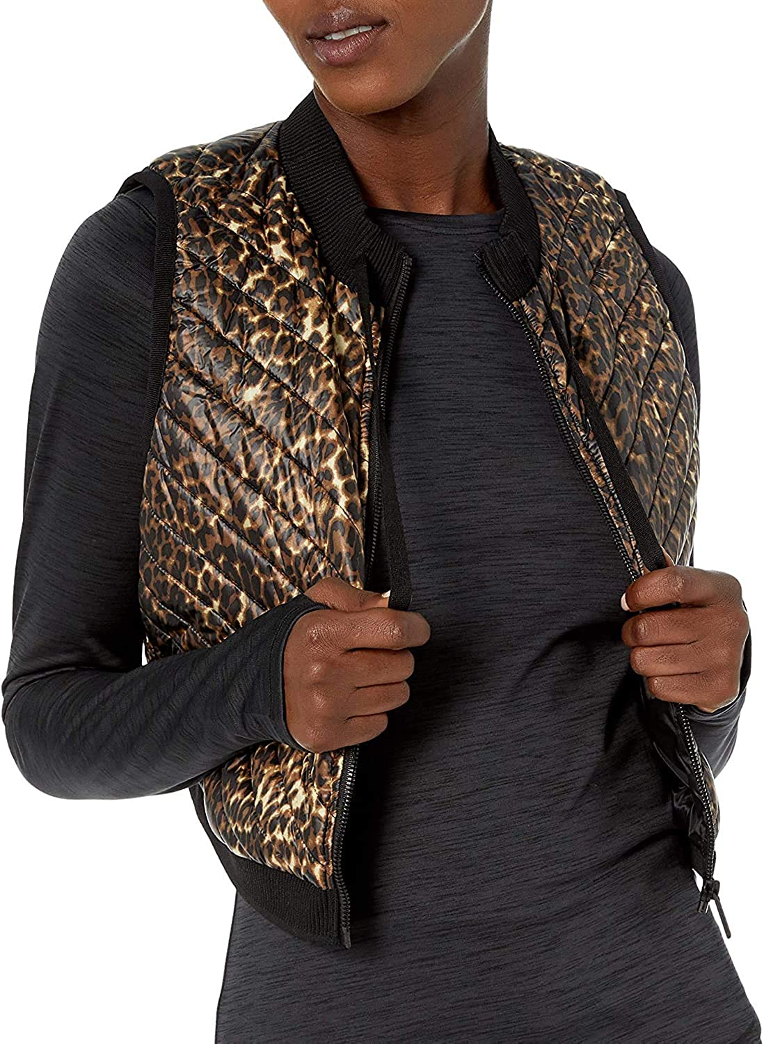 Calvin Klein Max 89% OFF Women's Cropped Diagnol Sweater Max 82% OFF Rib Quilt with Vest