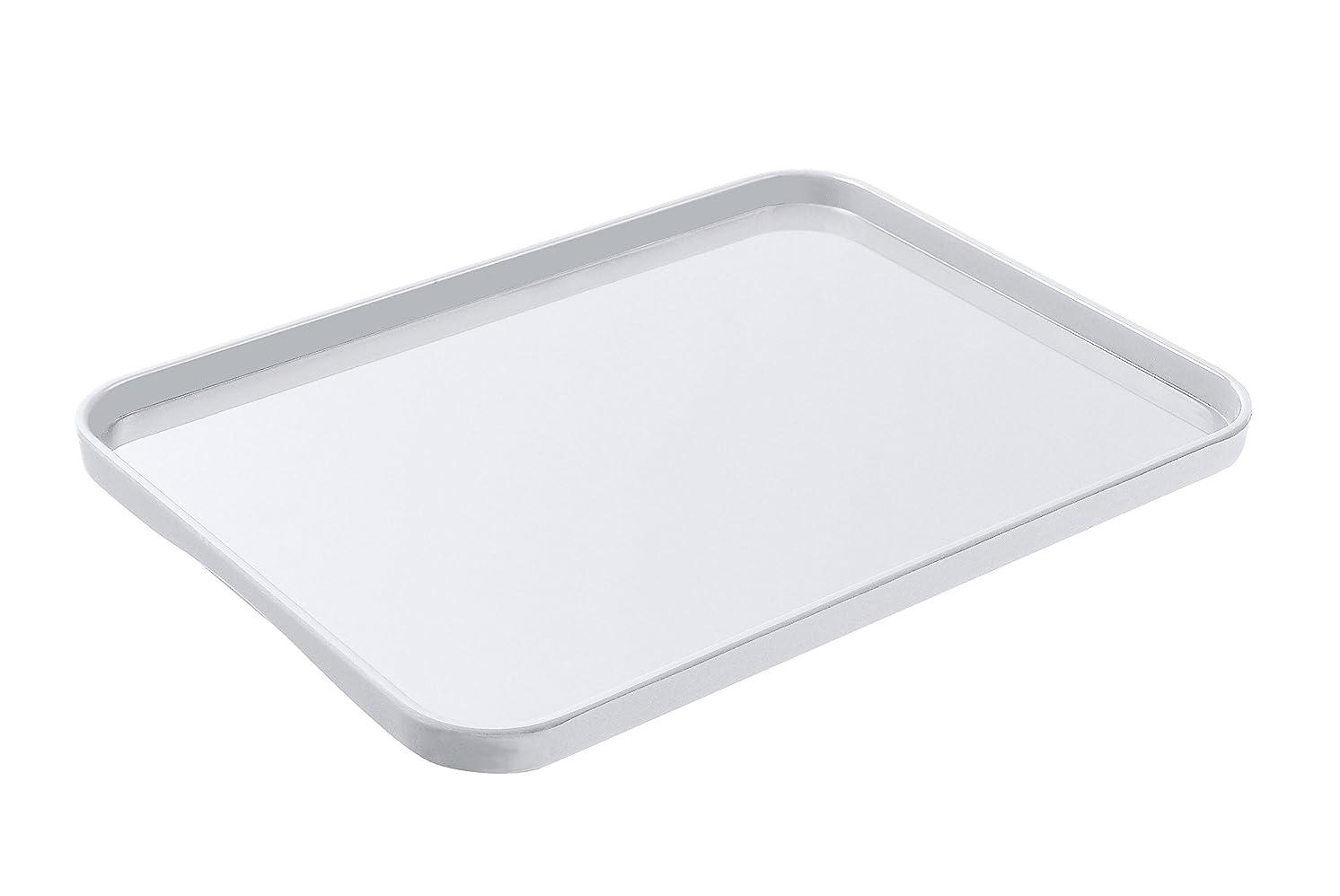 分析的デザート才能岩崎 お盆 ホワイト 30.6×22.4×1.7cm (L) プリト トレー K-202 W