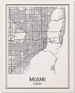 Miami Map, Map Miami, Miami Map Art, Florida Print, City Maps, Map Print, Map Art Print, Black and White, Map Wall Art, Map Art, Modern City Art, Scandinavian Poster, City Map Poster, 8x10
