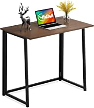 4NM Folding Desk, No-Assembly Small Computer Desk Home Office Desk Foldable Table Study Writing Desk Workstation for Small...