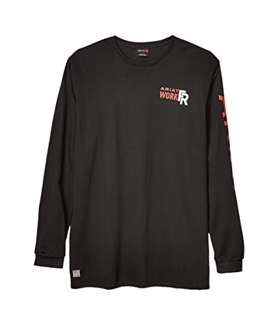 Ariat Big Tall FR Logo T-Shirt (Black/Red) Men