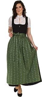 Turi Landhausmode Damen Dirndlschürze Baumwolle mit Blumen und Streifen D219050 Mariana