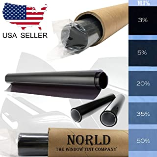Norld 20% 36 in x 20 Ft DIY Professional Adhesive Window Tint Film Uncut Roll